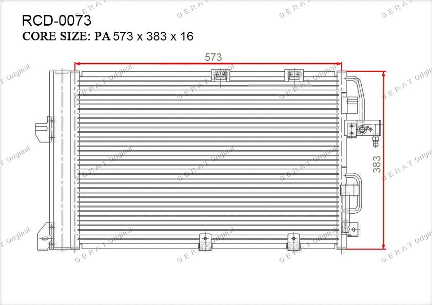 Радиатор кондиционера Gerat OEM13192901