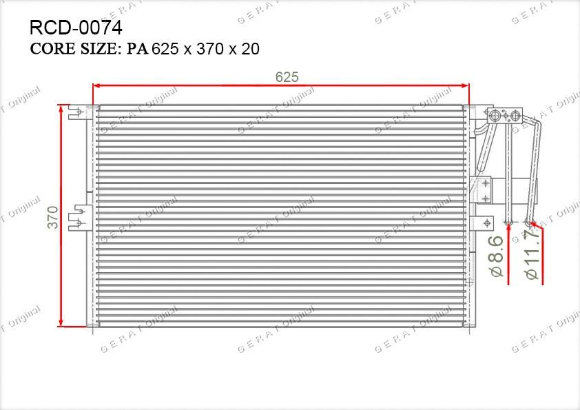 Радиатор кондиционера Gerat OEM1850062