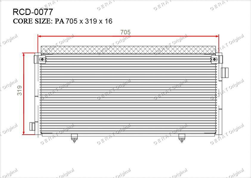 Радиатор кондиционера Gerat OEM73210AE02A