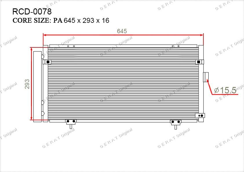 Радиатор кондиционера Gerat OEM73210AG000