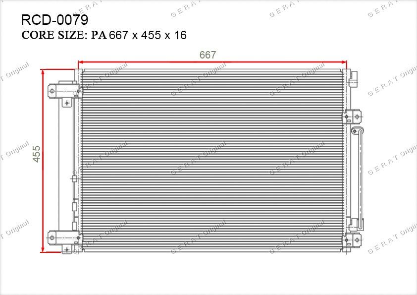 Радиатор кондиционера Gerat OEM73210XA00A