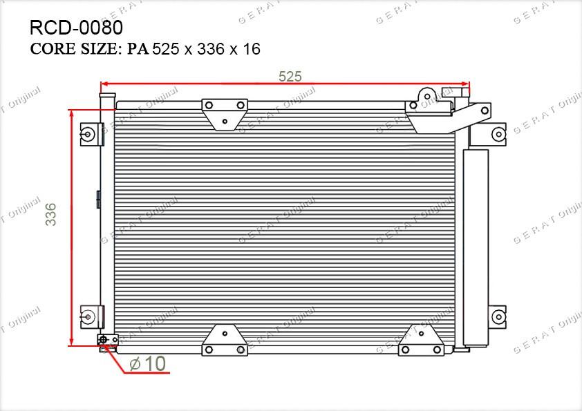 Радиатор кондиционера Gerat OEM9531065D30