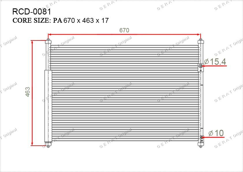 Радиатор кондиционера Gerat OEM9531064J00