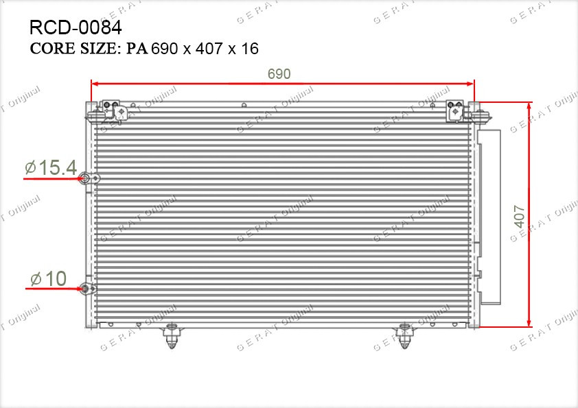 Радиатор кондиционера Gerat OEM8846006070
