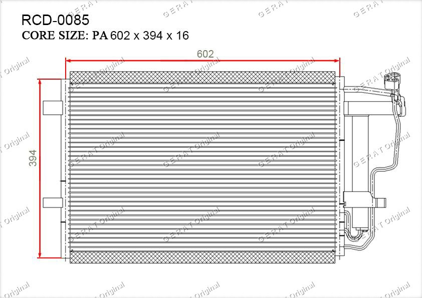 Радиатор кондиционера Gerat OEMBBY26148ZA