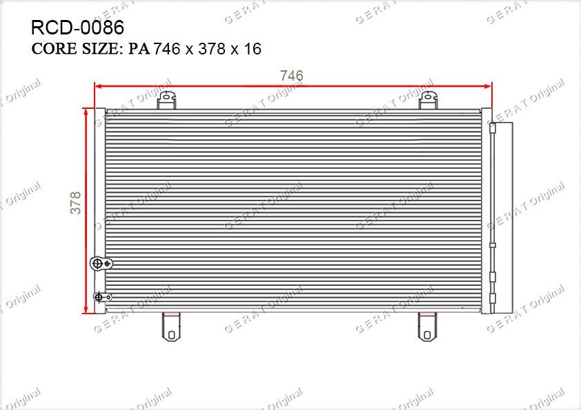 Радиатор кондиционера Gerat OEM8846006230