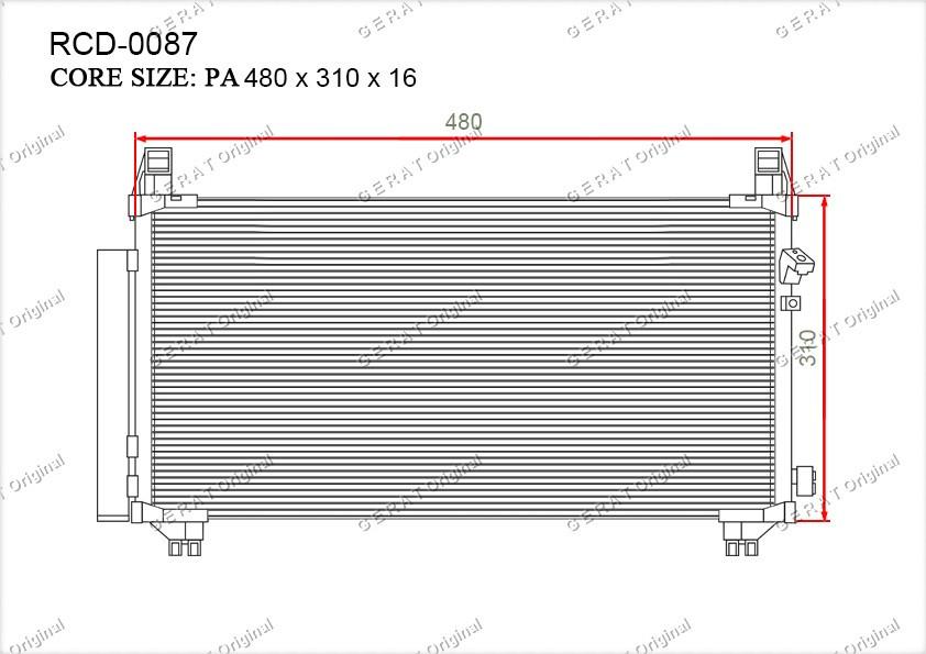 Радиатор кондиционера Gerat OEM8846052100