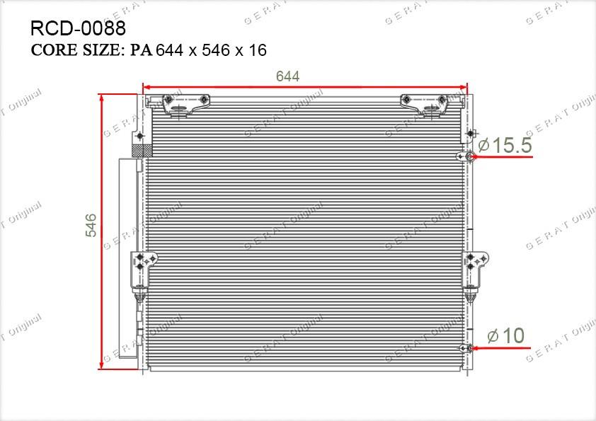 Радиатор кондиционера Gerat OEM8846060400