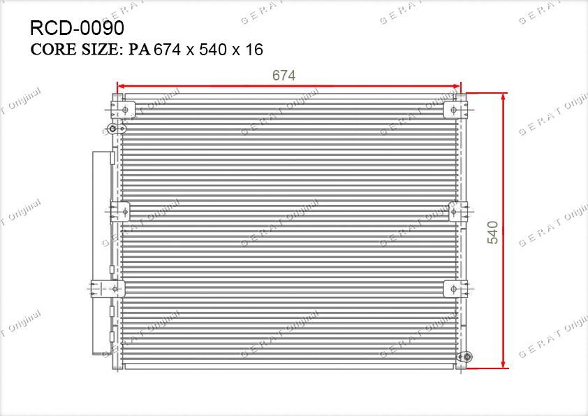 Радиатор кондиционера Gerat OEM8846060270