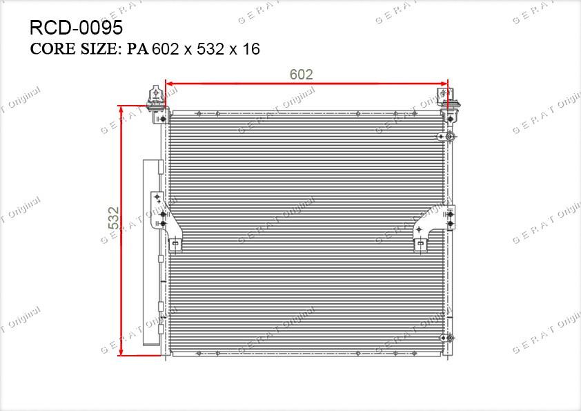 Радиатор кондиционера Gerat OEM8846035300