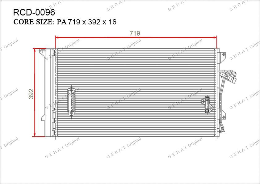 Радиатор кондиционера Gerat OEM4L0260401
