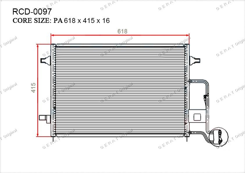 Радиатор кондиционера Gerat OEM3B0260401B