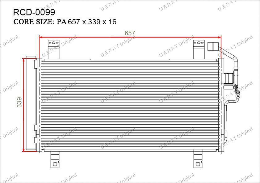 Радиатор кондиционера Gerat OEMGK2G61480J