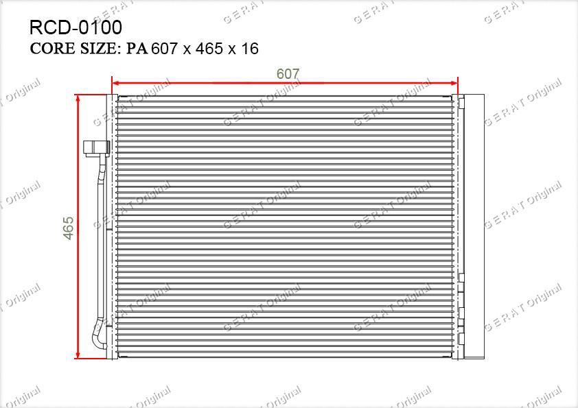Радиатор кондиционера Gerat OEM6972553