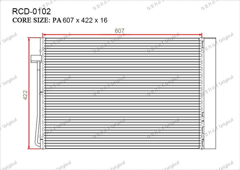 Радиатор кондиционера Gerat OEM64509122825