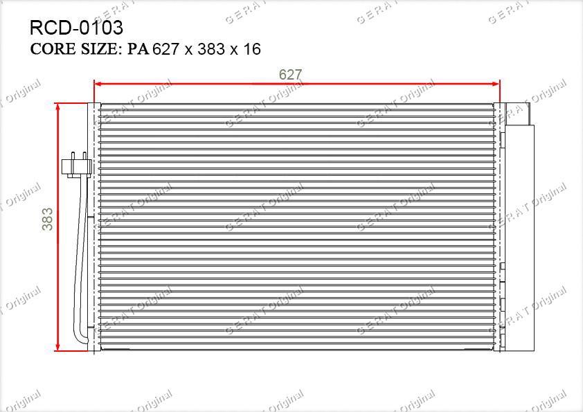 Радиатор кондиционера Gerat OEM64508361362