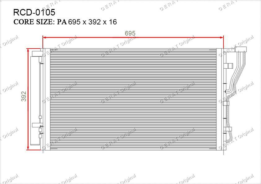 Радиатор кондиционера Gerat OEM976063R000