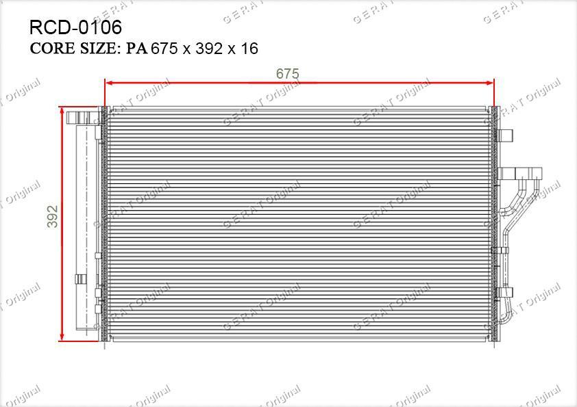 Радиатор кондиционера Gerat OEM976062Y500