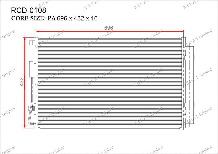 Радиатор кондиционера Gerat OEM976062W500