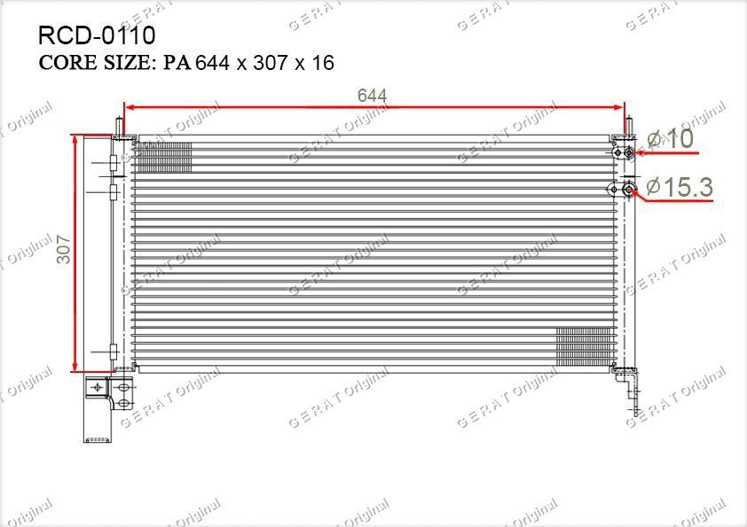 Радиатор кондиционера Gerat OEM8846047150