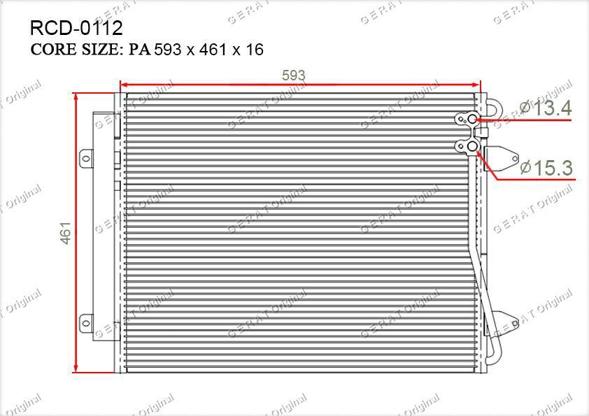 Радиатор кондиционера Gerat OEM3C0820411B