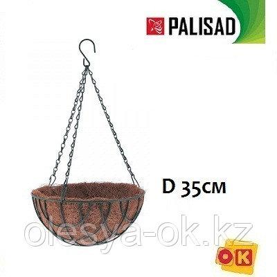 Кашпо подвесное с вкладышем из коковиты, полукруглое D 35. PALISAD, фото 2