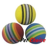 """Игрушка """"ВЫГОДНО"""" для животных - мячик вспененный каучук 3 шт"""