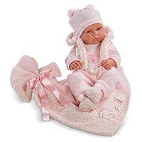 Кукла LLORENS малышка Тина 43см, с одеялом