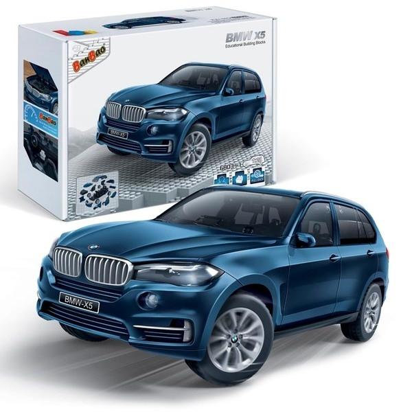 Конструктор BanBao Машина BMW X5 синяя, 98дет.
