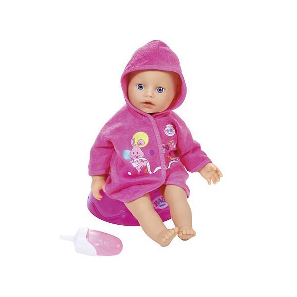 Кукла my little BABY born быстросохнущая с горшком  и бутылочкой, 32 см, дисплей