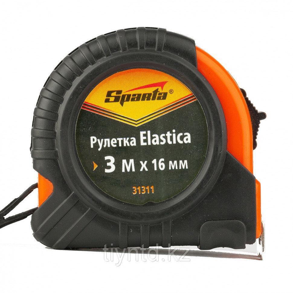 Рулетка Elastica, 3 м х 16 мм, обрезиненный корпус// Sparta