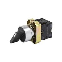 Переключатель поворотный XB2-BD33 ПФЛ-33-2НО с фиксацией (3-поз. N/0+N/0) 10A