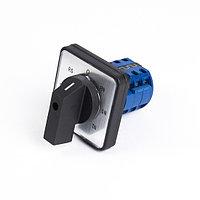 Переключатель кулачковый С11 ПГВЛ11-3КГ-7П с фиксацией (7-поз.) 20А для вольтметров