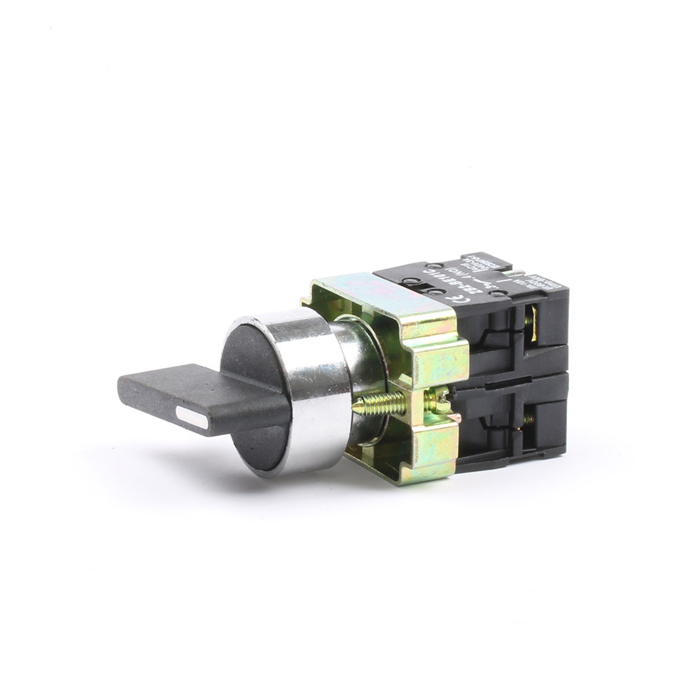 Переключатель поворотный PB2-BJ53 ПФЛ-53-2НО3 10A трёхпозиционный с возвратом