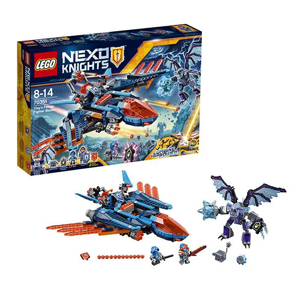 Конструктор LEGO Nexo Knights Самолёт-истребитель  Сокол Клэя