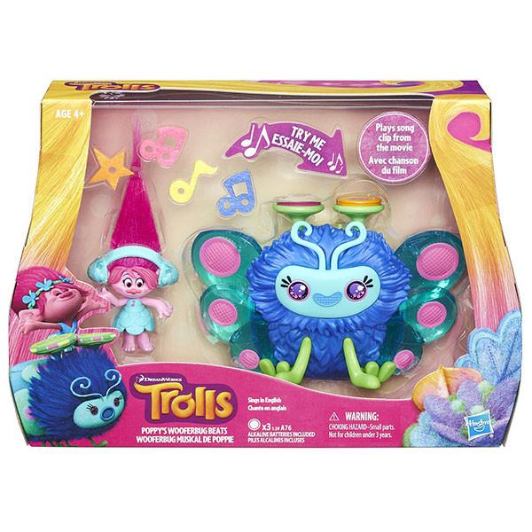 Hasbro Trolls Набор Город троллей Диджей Баг