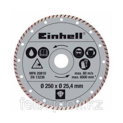 Диск алмазный отрезной  Einhell 250*25.4 мм (по камню и плитке)