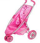 Коляска Gulliver прогулочная розовая (поворотные  передние колеса)