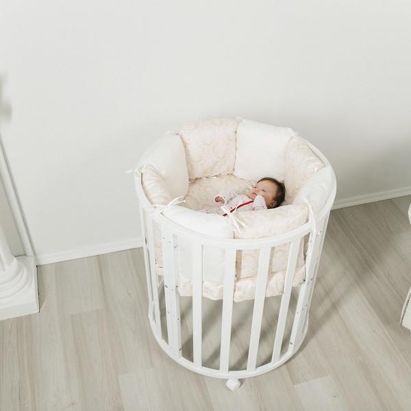 СКВ-10 Кровать детская колесо Белый