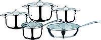 Набор посуды granhel Stainless steel PC007-10 10 предметов