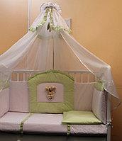 БАЛУ Комплект в кроватку ЛЮБИМЧИК кремовый(желтый)  балд 4м борт 4-х сторон 7пр