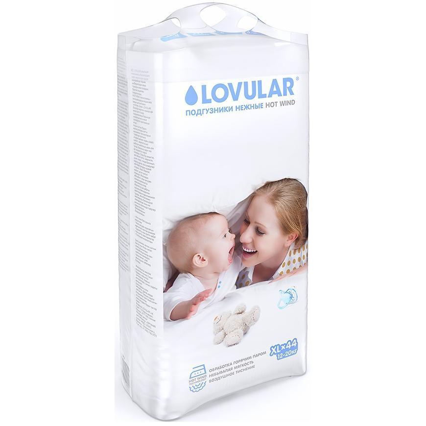 Подгузники Lovular Hot Wind XL (12-20кг) 44 шт.