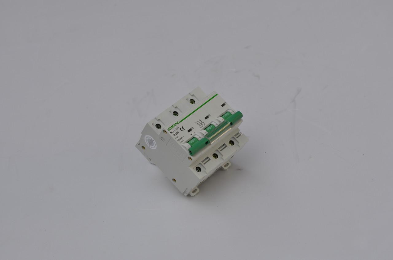 Выключатель автоматический реечный NC100H (BA 125Л) 3P - 80А 10KA (С) (ЭЛМАРК)