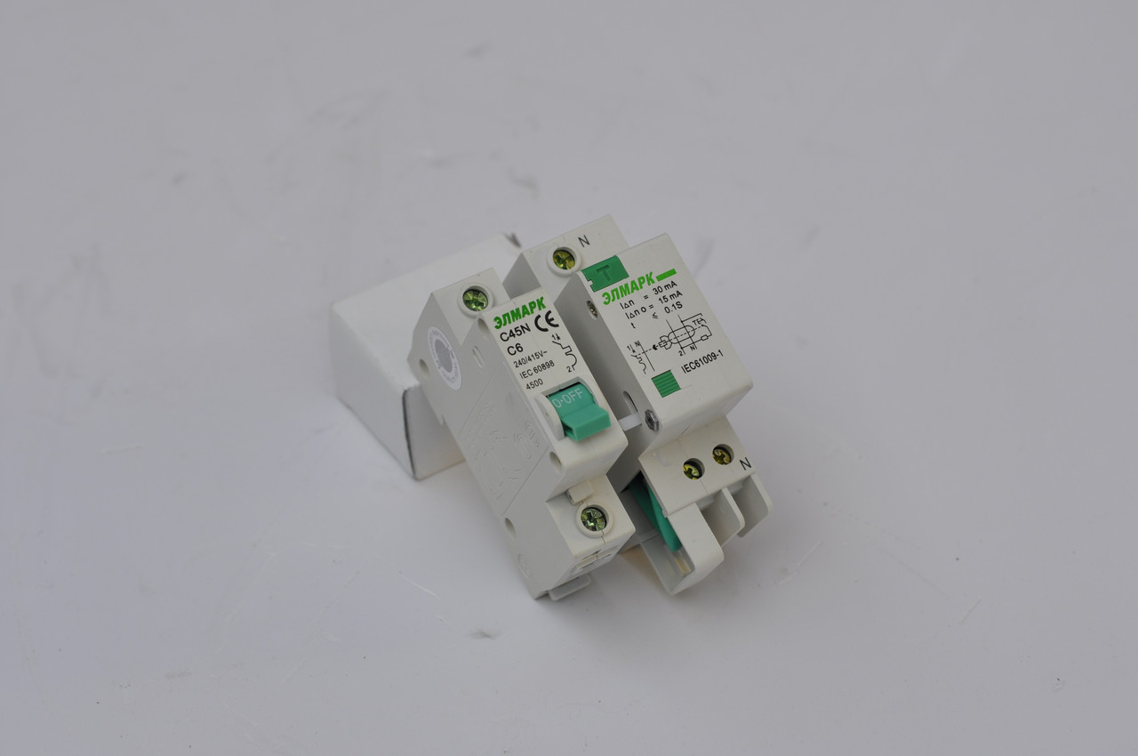 Выключатель автоматический реечный C45N (BA 63Л) 4.5KA 1P - 63A (ЭЛМАРК)