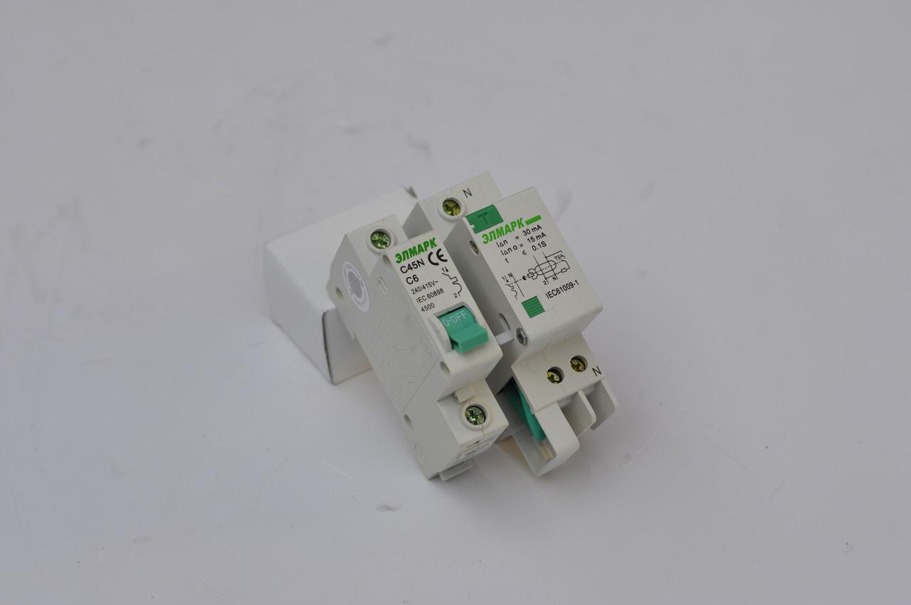 Выключатель автоматический реечный C45N (BA 63Л) 4.5KA 1P - 6A (ЭЛМАРК)