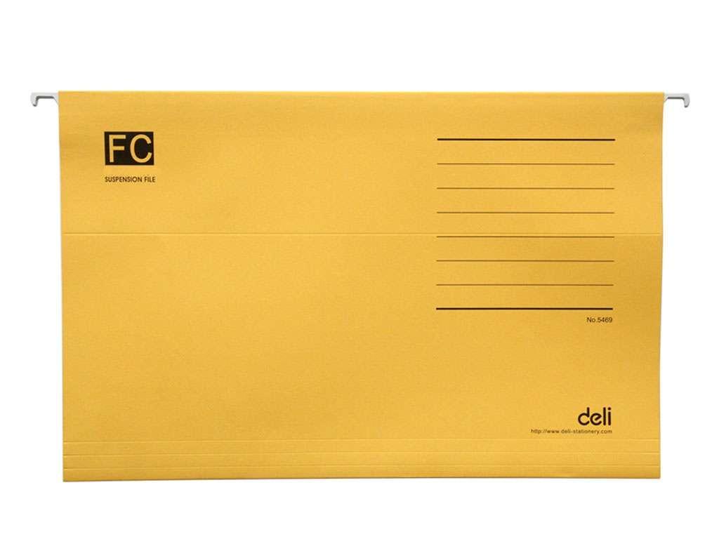 Папка подвесная Deli, А4+, желтая