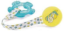 Прорезыватель Happy Baby с водой и держателем  Water teether Голубой