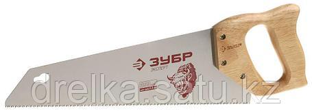 """Ножовка ЗУБР """"ЭКСПЕРТ"""" для тонкого пиления, прямой мелкий закаленный зуб, дерев. ручка, шаг зуба 2,3мм, 350 мм, фото 2"""
