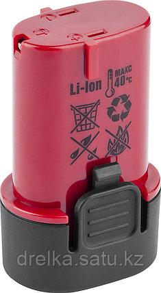 Аккумулятор для шуруповерта ЗУБР ЗАКБ-7.2 L15, 1,5 А/ч, 7,2 В , фото 2