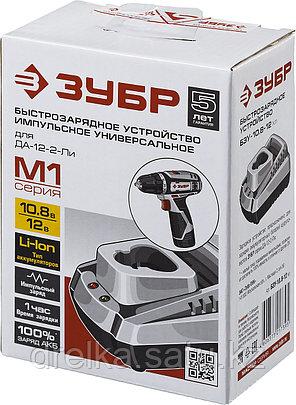 Зарядное устройство для аккумулятора, ЗУБР БЗУ-10.8-12 М1, МАСТЕР Импульс универсальное, интеллектуальное., фото 2